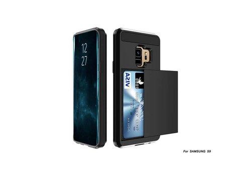 Samsung S9 Hybrid telefoonhoesje kaarthouder - Zwart
