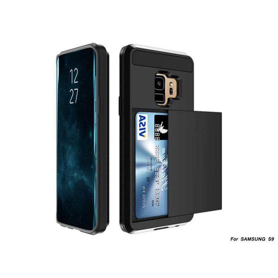 Samsung S9 Hybrid telefoonhoesje kaarthouder - Zwart-1