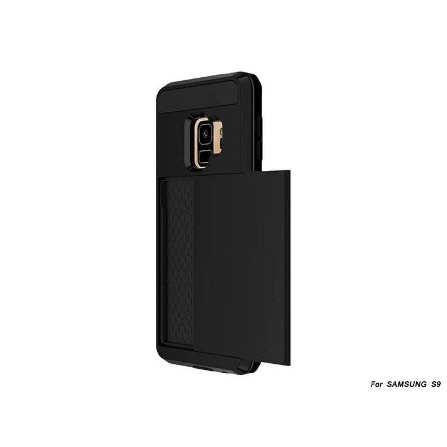 Samsung S9 Hybrid telefoonhoesje kaarthouder - Zwart-2
