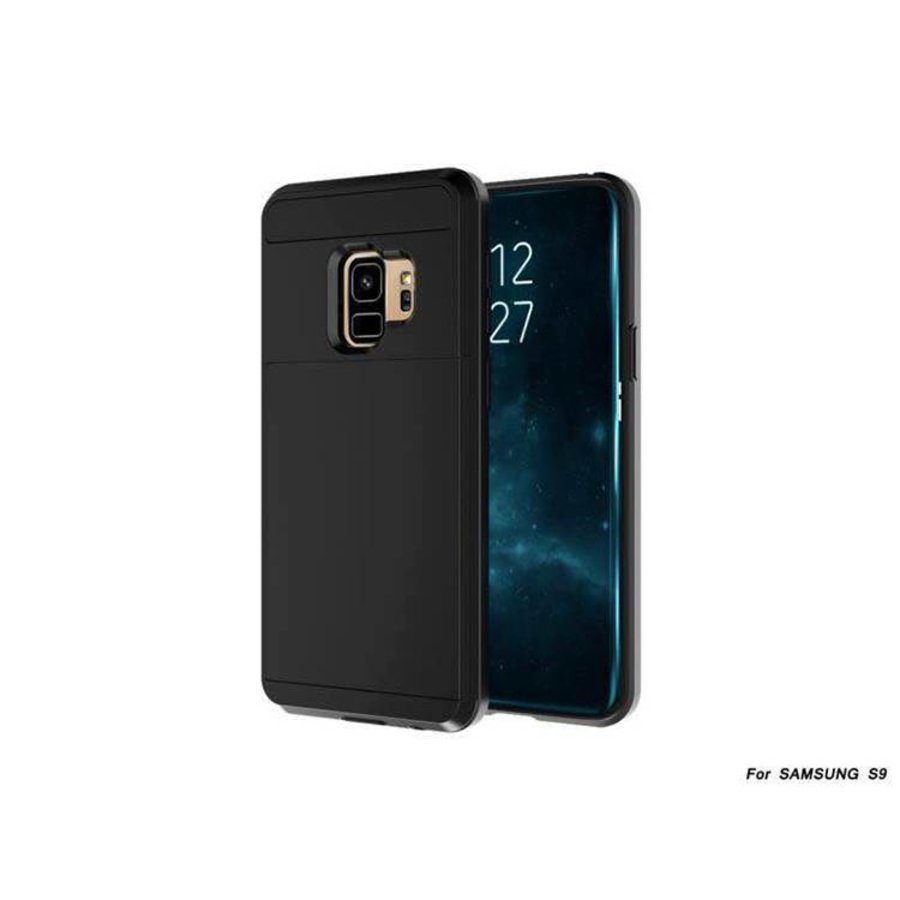 Samsung S9 Hybrid telefoonhoesje kaarthouder - Zwart-3