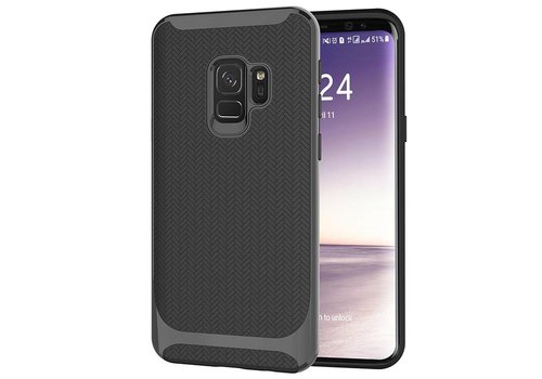 Samsung S9 Slim Carbon Hybrid telefoon hoesje - Zwart