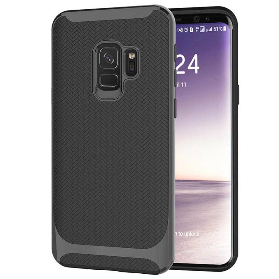 Samsung S9 Slim Carbon Hybrid telefoon hoesje - Zwart-1