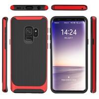thumb-Samsung S9 Slim Carbon Hybrid Telefoonhoesje - Rood-3