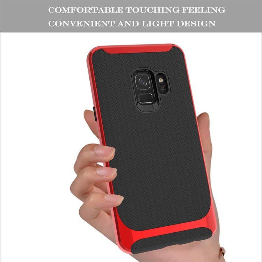 Samsung S9 Slim Carbon Hybrid Telefoonhoesje - Rood-5