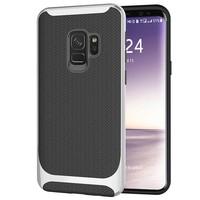thumb-Samsung S9 Carbon Hybrid Telefoonhoesje - Zilver-1