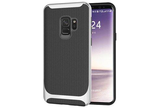 Samsung S9 Slim Carbon Hybrid Telefoonhoesje - Zilver