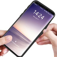 thumb-Samsung S9 Carbon Hybrid Telefoonhoesje - Zilver-2