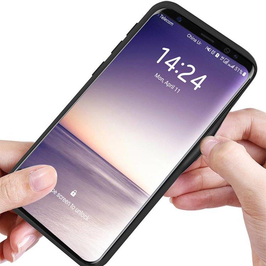 Samsung S9 Carbon Hybrid Telefoonhoesje - Zilver-2