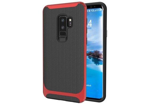 Samsung S9 Plus Slim Carbon Hybrid telefoonhoesje - Rood