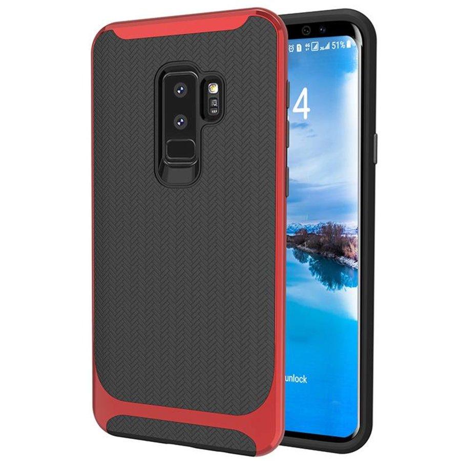 Samsung S9 Plus Slim Carbon Hybrid telefoonhoesje - Rood-1