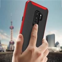 thumb-Samsung S9 Plus Slim Carbon Hybrid telefoonhoesje - Rood-2