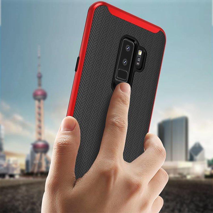 Samsung S9 Plus Slim Carbon Hybrid telefoonhoesje - Rood-2