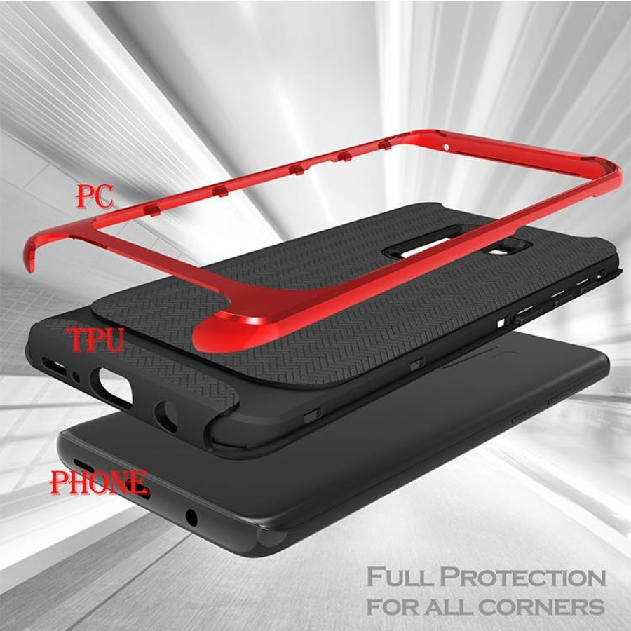 Samsung S9 Plus Slim Carbon Hybrid telefoonhoesje - Rood-3