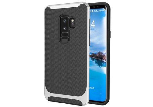 Samsung S9 Plus Slim Carbon Hybrid telefoonhoesje - Zilver