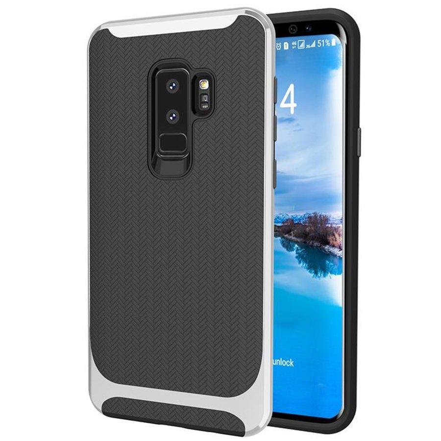 Samsung S9 Plus Slim Carbon Hybrid telefoonhoesje - Zilver-1