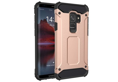 Samsung S9 Heavy armour telefoonhoesje - Rose goud
