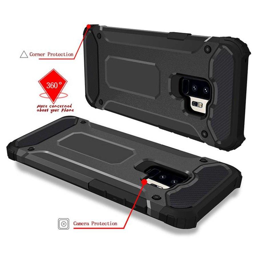 Samsung S9 Plus Heavy armour telefoonhoesje - Zwart-4