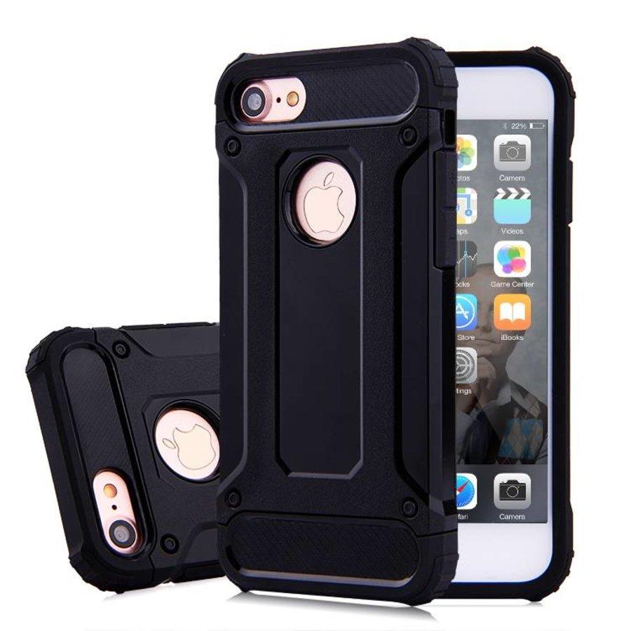 Apple Iphone 7 Heavy armour telefoonhoesje - Zwart-1