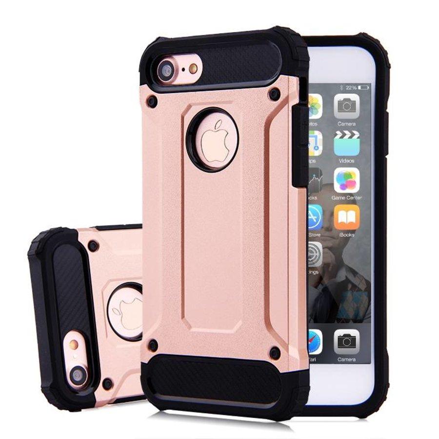 Apple Iphone 7 Heavy armour telefoonhoesje - Rose goud-1