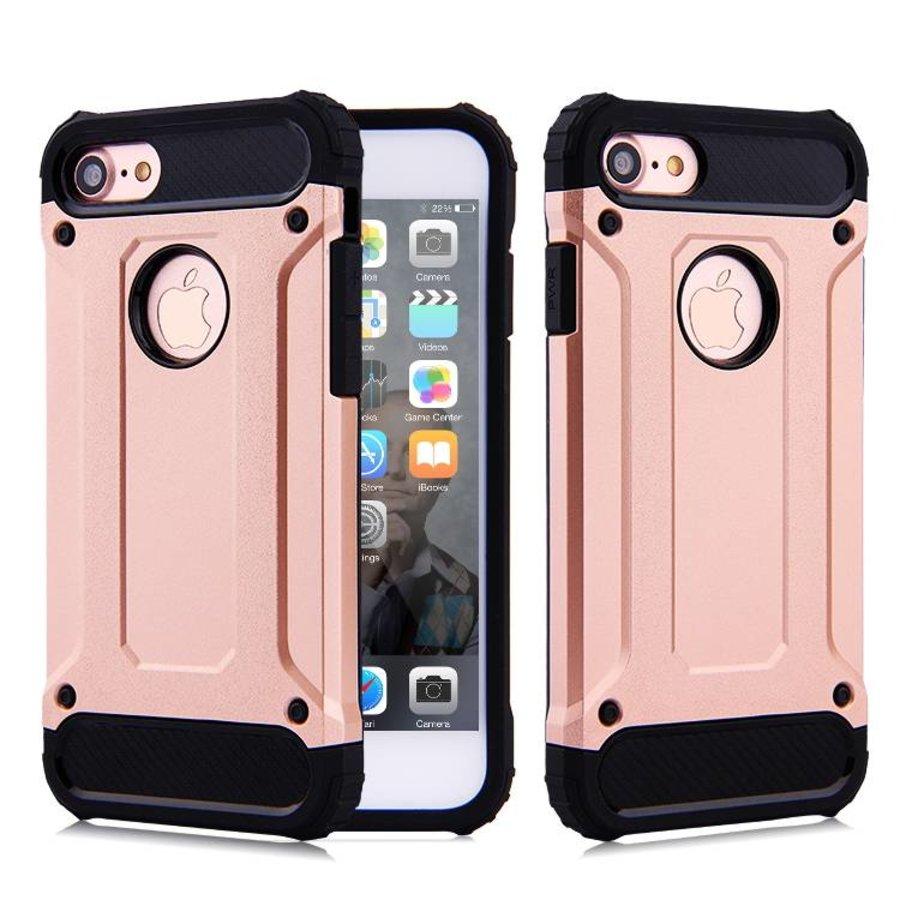 Apple Iphone 7 Heavy armour telefoonhoesje - Rose goud-2