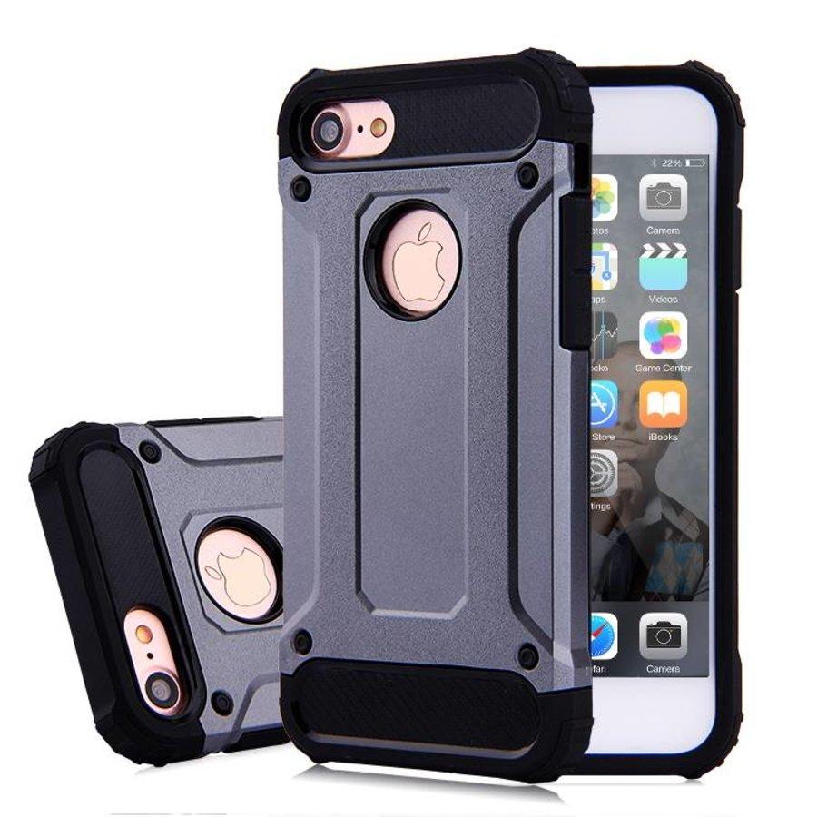 Apple Iphone 8 Heavy armour telefoonhoesje - Grijs-1