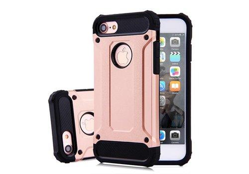 Apple Iphone 8 Heavy armour telefoonhoesje - Rose goud