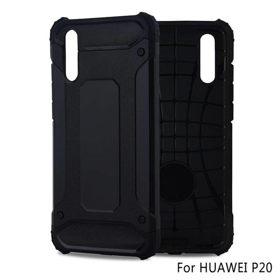 Huawei P20 Heavy armour telefoonhoesje - Zwart-1
