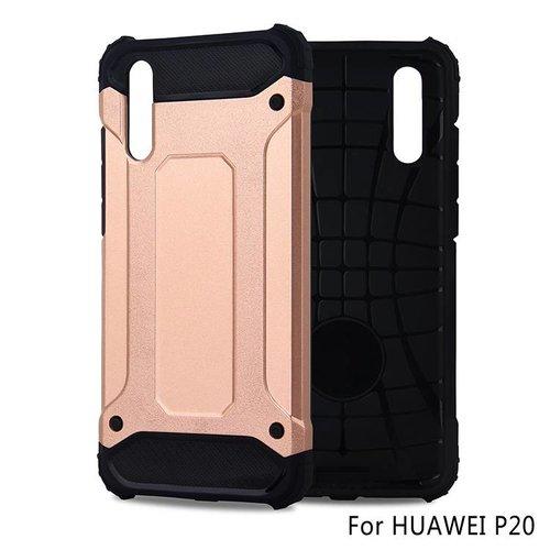 Huawei P20 Heavy armour telefoonhoesje - Rose goud