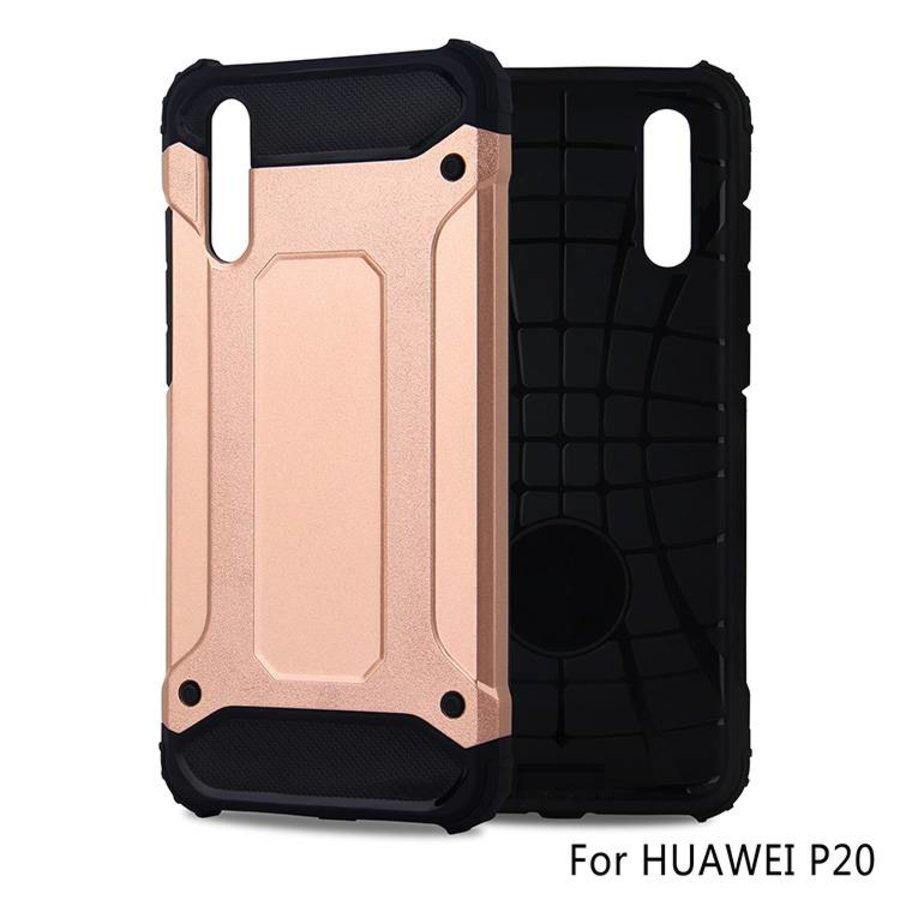 Huawei P20 Heavy armour telefoonhoesje - Rose goud-1