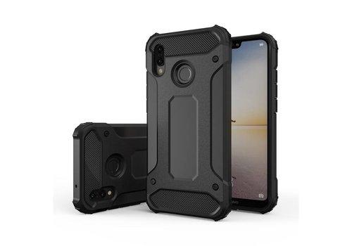 Huawei P20 Lite Heavy armour telefoonhoesje - Zwart