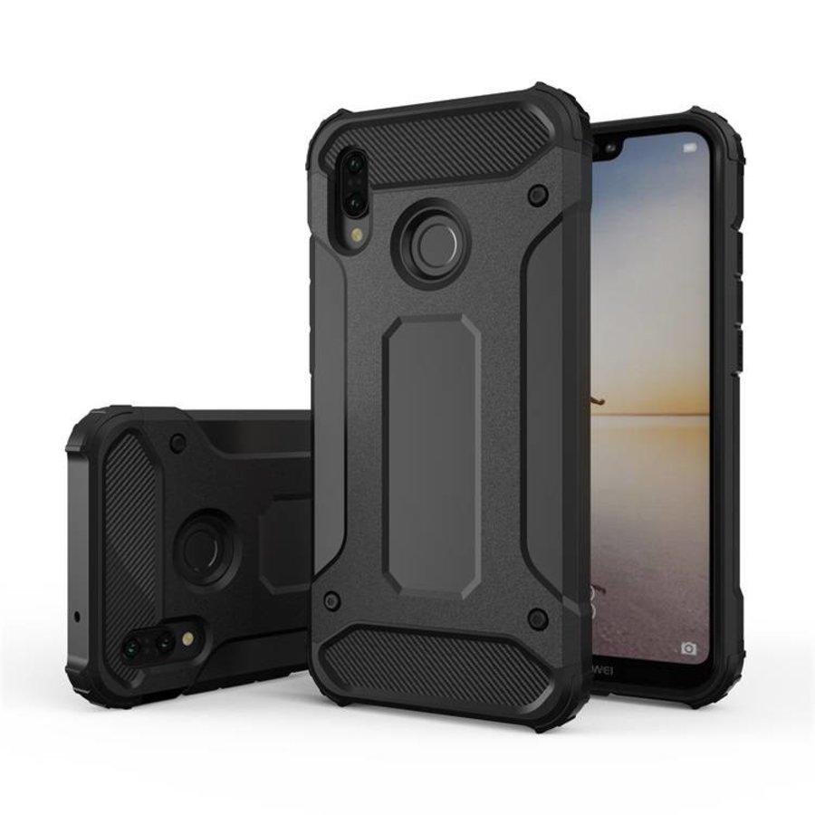 Huawei P20 Lite Heavy armour telefoonhoesje - Zwart-1