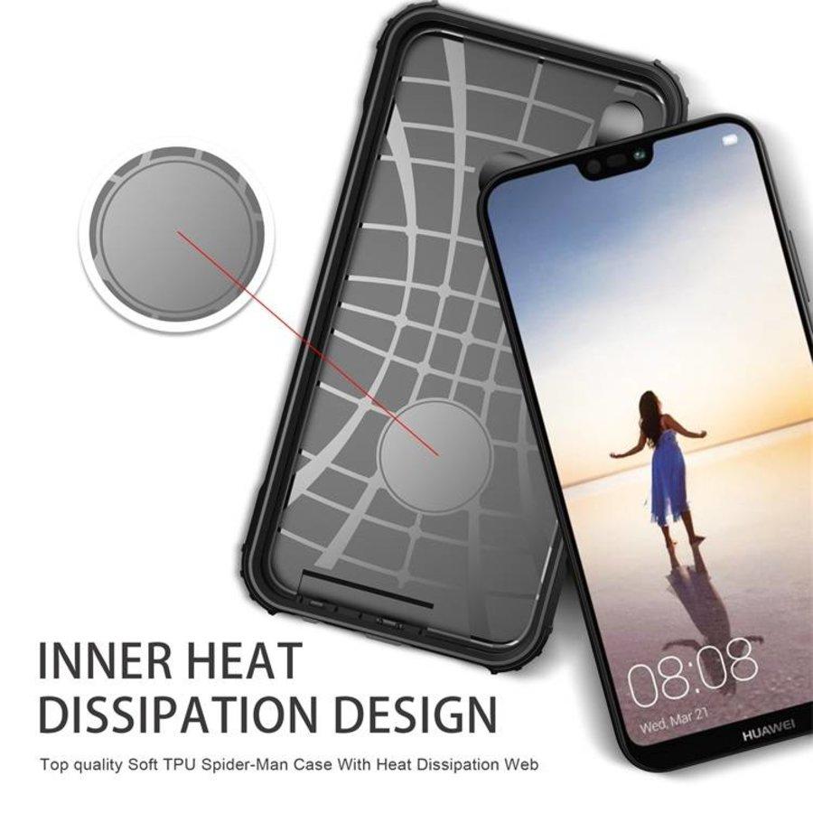 Huawei P20 Lite Heavy armour telefoonhoesje - Zwart-2