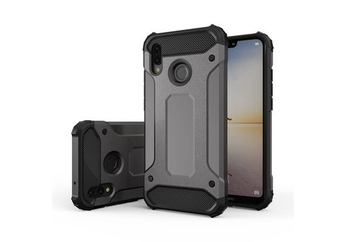 Huawei P20 Lite Heavy armour telefoonhoesje - Grijs