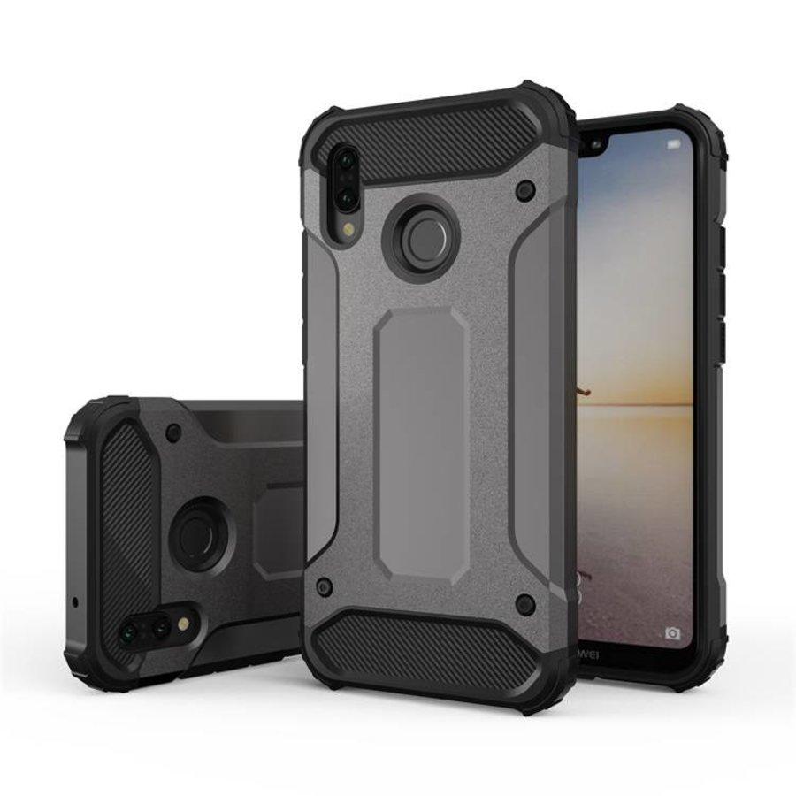 Huawei P20 Lite Heavy armour telefoonhoesje - Grijs-1