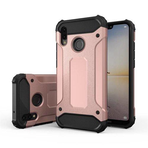 Huawei P20 Lite Heavy armour telefoonhoesje - Rose goud