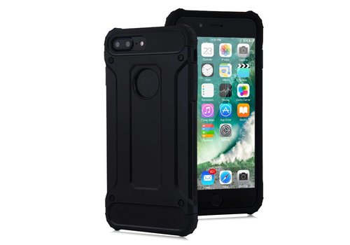 Apple Iphone 8 Plus Heavy armour telefoonhoesje - Zwart