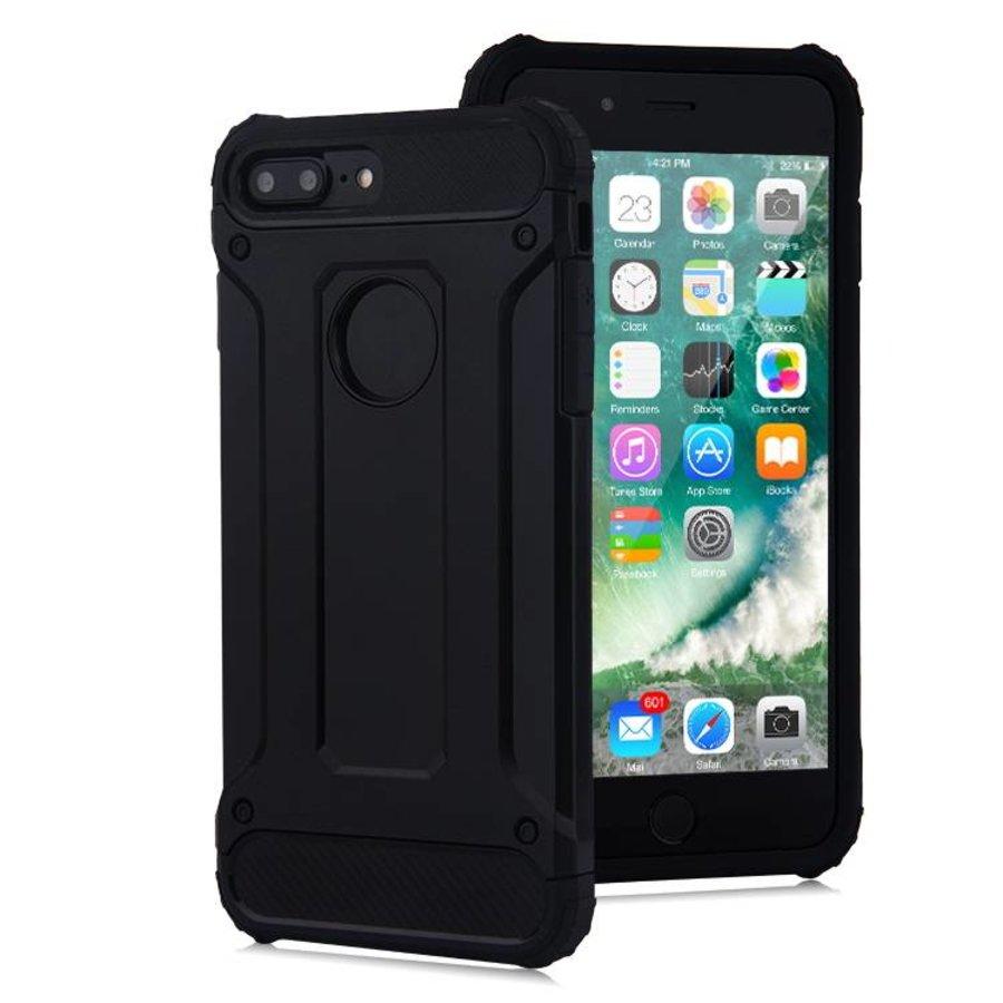 Apple Iphone 8 Plus Heavy armour telefoonhoesje - Zwart-1