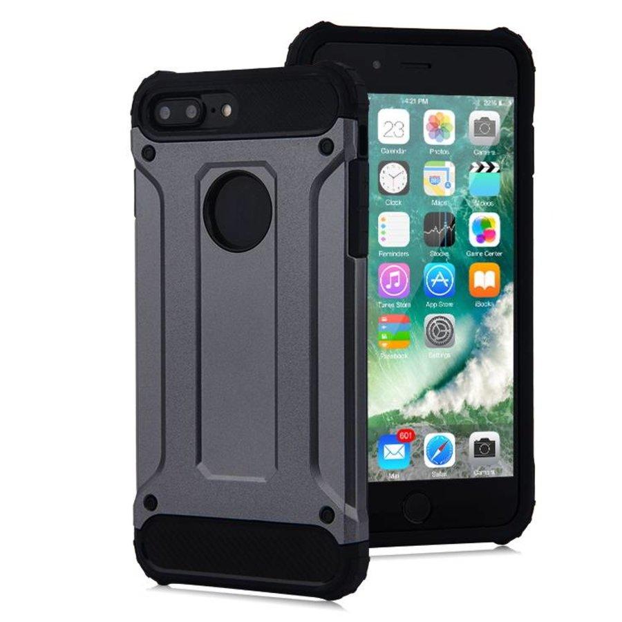 Apple Iphone 8 Plus Heavy armour telefoonhoesje - Grijs-1