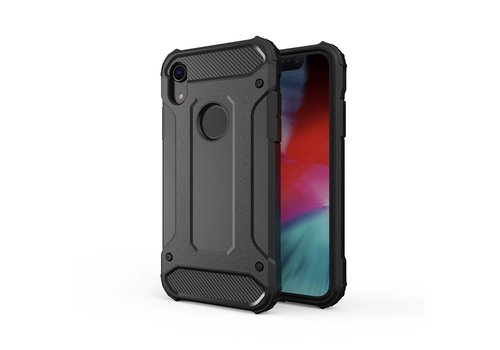 Apple Iphone XR Heavy armour telefoonhoesje - Zwart