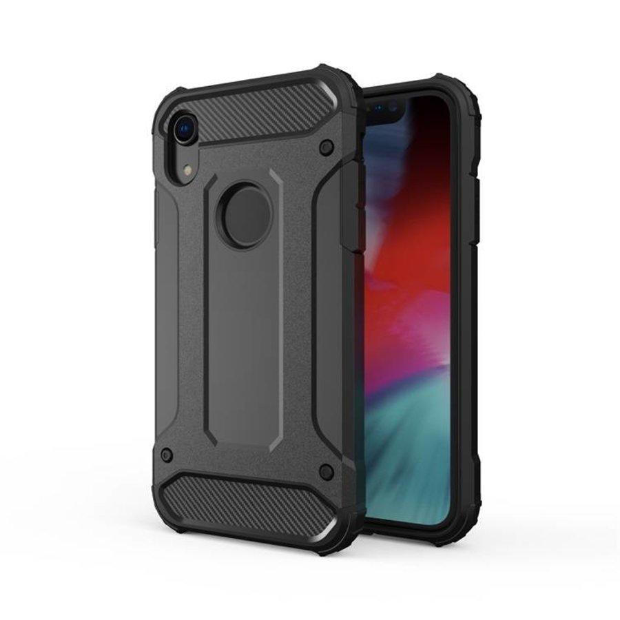Apple Iphone XR Heavy armour telefoonhoesje - Zwart-1