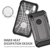 thumb-Apple Iphone XR Heavy armour telefoonhoesje - Grijs-4