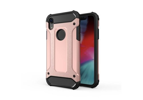 Apple Iphone XR Heavy armour telefoonhoesje - Rose goud