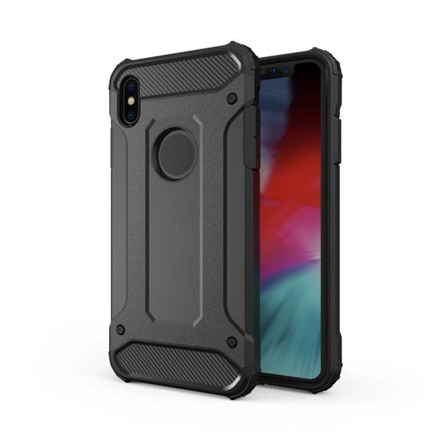Apple Iphone XS max Heavy armour telefoonhoesje - Zwart-1
