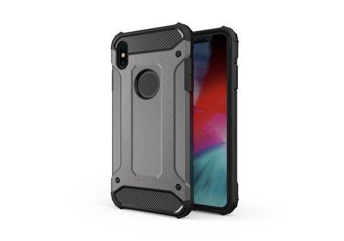 Apple Iphone XS max Heavy armour telefoonhoesje - Grijs