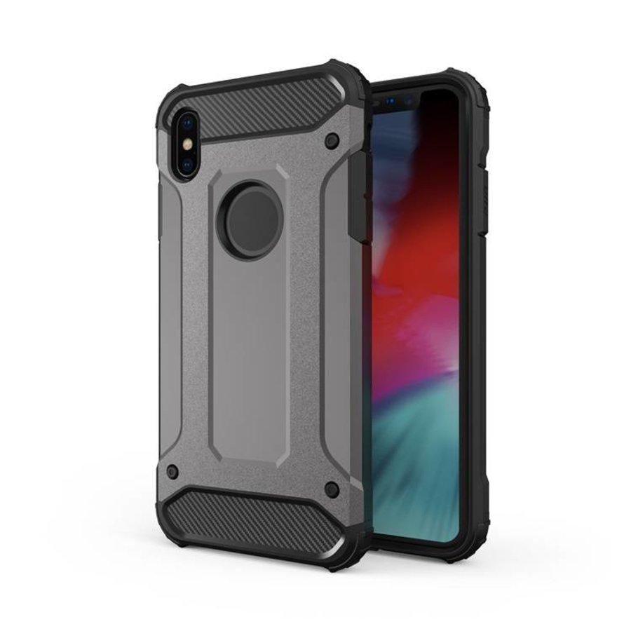 Apple Iphone XS max Heavy armour telefoonhoesje - Grijs-1