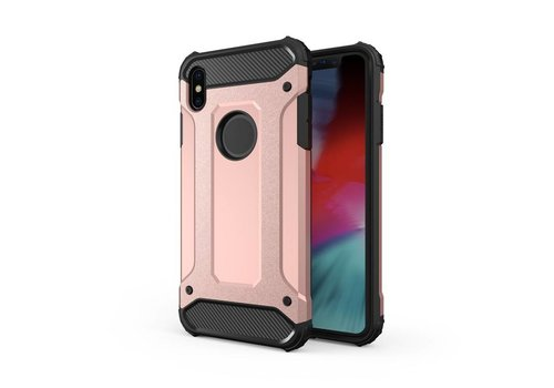 Apple Iphone X Heavy armour telefoonhoesje - Rose goud