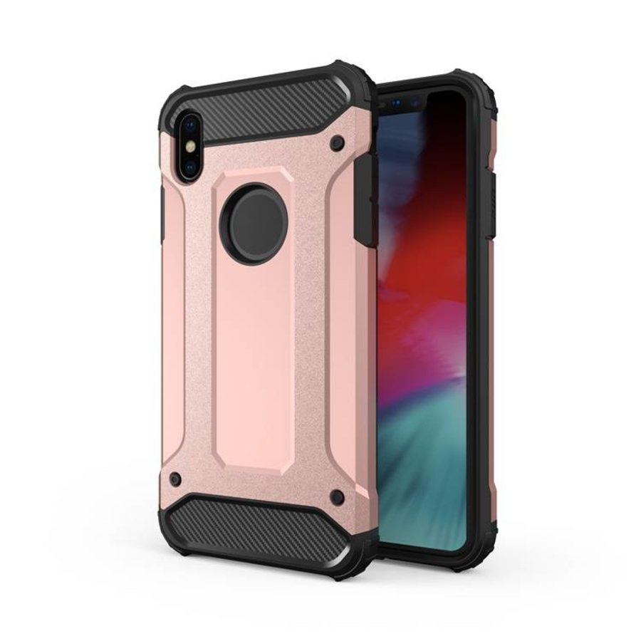 Apple Iphone X Heavy armour telefoonhoesje - Rose goud-1
