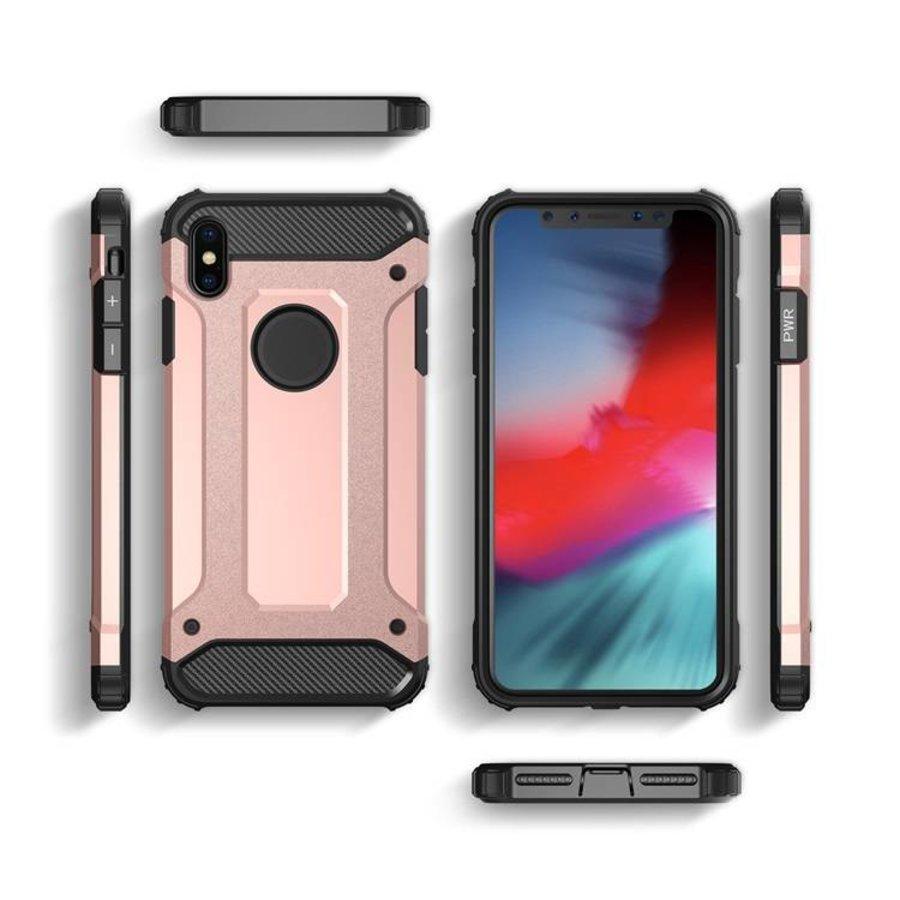 Apple Iphone X Heavy armour telefoonhoesje - Rose goud-2