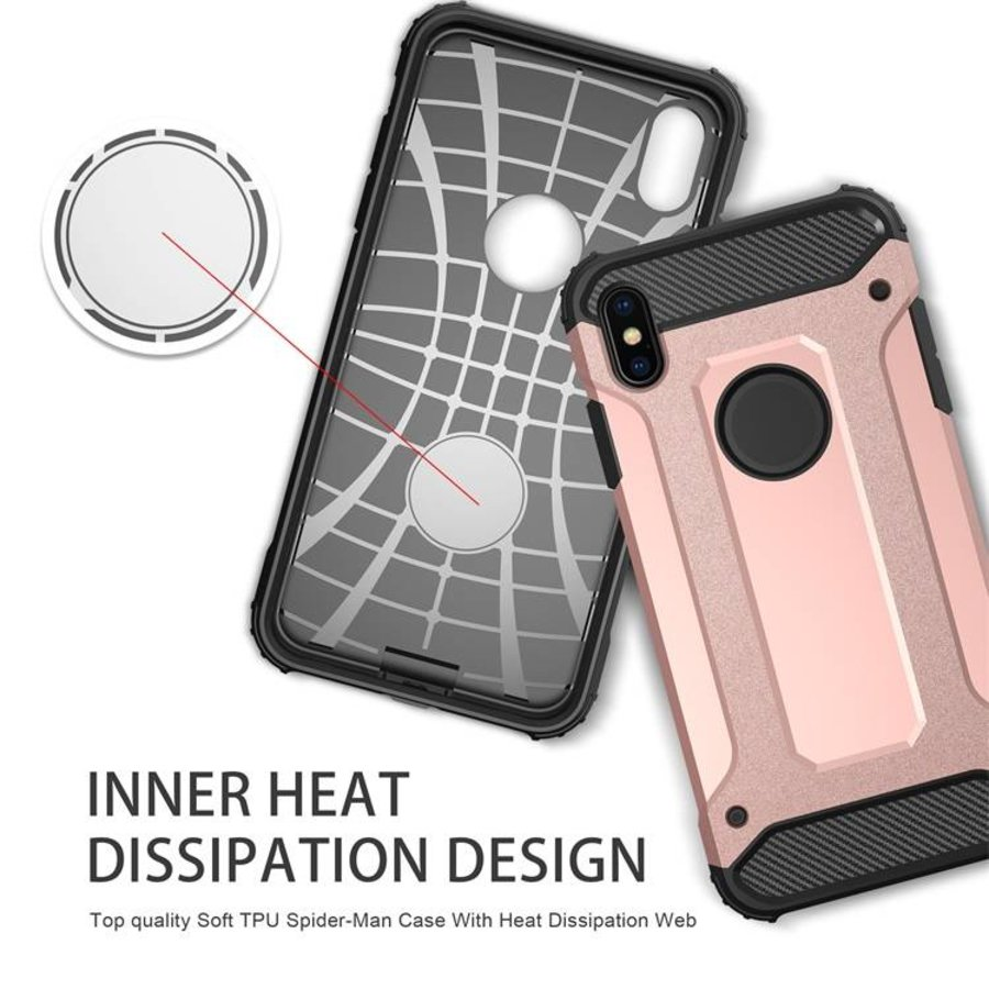 Apple Iphone X Heavy armour telefoonhoesje - Rose goud-4