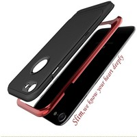 thumb-Apple Iphone 8 Slim Carbon hybrid telefoonhoesje - Rood-2